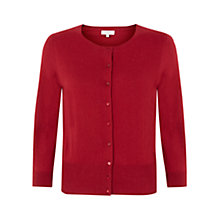 Buy Hobbs Eve Cardigan, Sienna Red Online at johnlewis.com