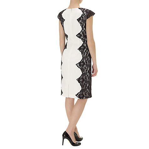 Buy Adrianna papell Cutaway Lace Dress, Ivory Online at johnlewis.com