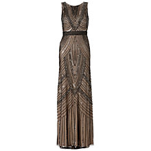 Buy Adrianna Papell Sleeveless Beaded Maxi Dress, Black/Nude Online at johnlewis.com