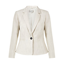 Buy Hobbs Analise Jacket, Natural Online at johnlewis.com