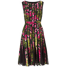 Buy Adrianna Papell Fractured Floral Dress, Black Pattern Online at johnlewis.com