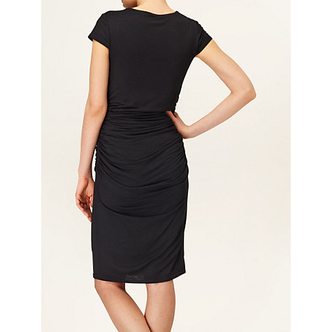 Buy Phase Eight Raya Ruch Jersey Dress, Black Online at johnlewis.com