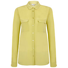Buy Hobbs Sammy Silk Blouse, Pistachio Green Online at johnlewis.com