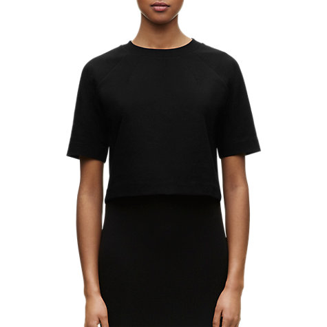 Buy Whistles Evie Cropped Top, Black Online at johnlewis.com