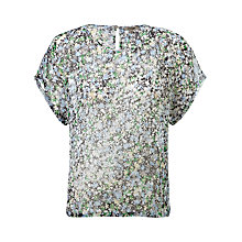 Buy Jigsaw Lou Lou Floral Chiffon T-shirt, Multi Online at johnlewis.com