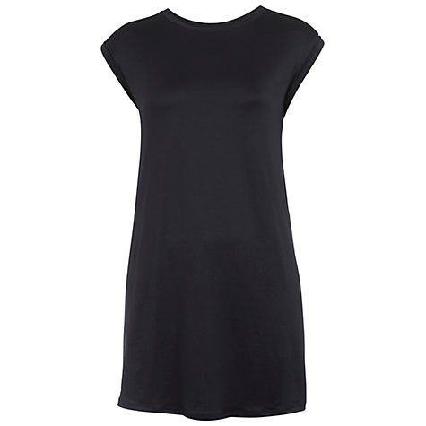 Buy Miss Selfridge Sliky Tunic Top, Grey Online at johnlewis.com