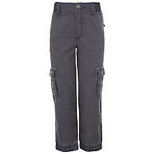 Buy John Lewis Boy Elasticated Cargo Trousers, Grey Online at johnlewis.com