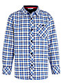 John Lewis Boy Long Sleeved Check Oxford Shirt, Blue/White