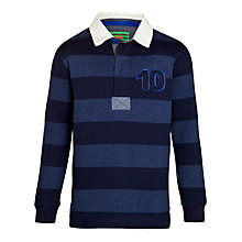 Buy John Lewis Boy Stripe Rugby Polo Shirt, Blue Online at johnlewis.com
