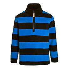 Buy John Lewis Boy Stripe Half Zip Fleece, Navy/Blue Online at johnlewis.com