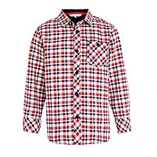 Buy John Lewis Boy Oxford Check Shirt, Red/White Online at johnlewis.com