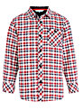 John Lewis Boy Oxford Check Shirt, Red/White
