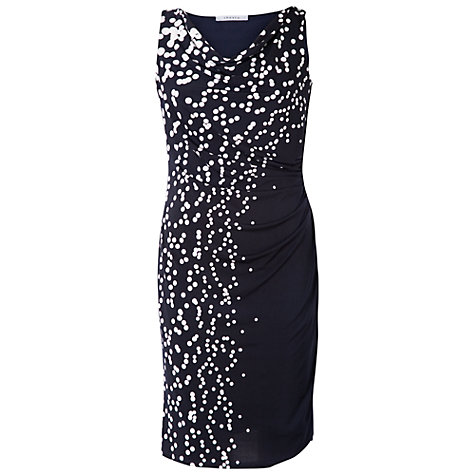 Buy Chesca Spot Dress, Navy/White Online at johnlewis.com
