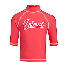 Buy Animal Girls' Palzie Rash Vest, Red Online at johnlewis.com
