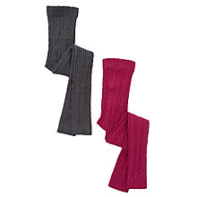 Buy John Lewis Girl Cable Knit Footless Tights Online at johnlewis.com