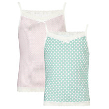 Buy John Lewis Girl Geo Print Vests, Pack of 2, Multi Online at johnlewis.com