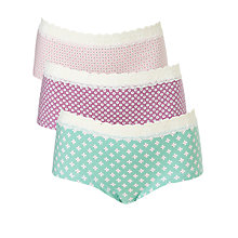 Buy John Lewis Girl Geo Print Shorties, Pack of , Multi Online at johnlewis.com