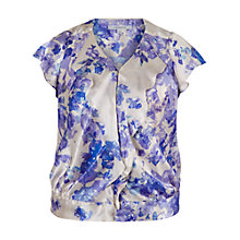 Buy Chesca Border Print Blouse, Champagne/Lilac Online at johnlewis.com