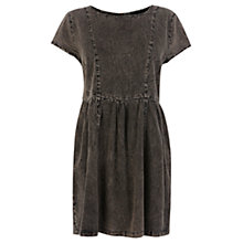 Buy Warehouse T-Shirt Shift Dress, Dark Grey Online at johnlewis.com