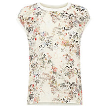 Buy Warehouse Spring Floral Print Top, Cream Online at johnlewis.com