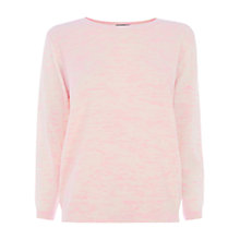 Buy Warehouse Neon Slub Stitch Front Jumper, Bright Pink Online at johnlewis.com