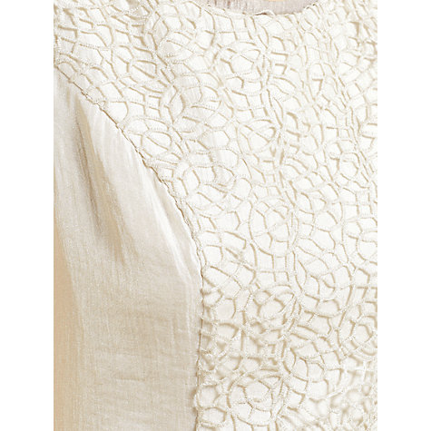 Buy Gina Bacconi Guipure Shimmer Dress And Jacket, Cream Mist Online at johnlewis.com