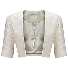 Buy Gina Bacconi Brocatelle Bolero, Vellum Online at johnlewis.com
