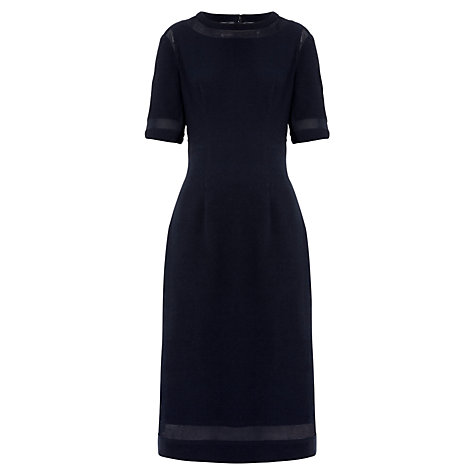 Buy Whistles Gwen Sheer Panel Dress, Navy Online at johnlewis.com