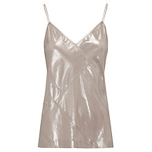 Buy Whistles Foil Patchwork Vest Top, Silver Online at johnlewis.com