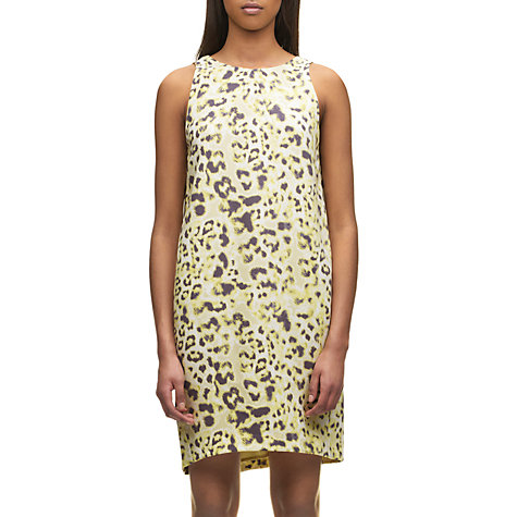 Buy Whistles Haillee Brushed Fur Dress, Yellow Online at johnlewis.com