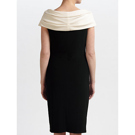 Buy Gina Bacconi Jersey Beaded Dress, Black Online at johnlewis.com