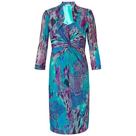 Buy Gina Bacconi Paisley Chiffon Dress And Bolero, Turquoise Online at johnlewis.com