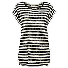 Buy Oasis Stripe Top, Black/White Online at johnlewis.com