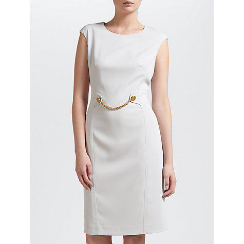 Buy Gina Bacconi Stretch Moss Crepe Dress, Silver Mist Online at johnlewis.com