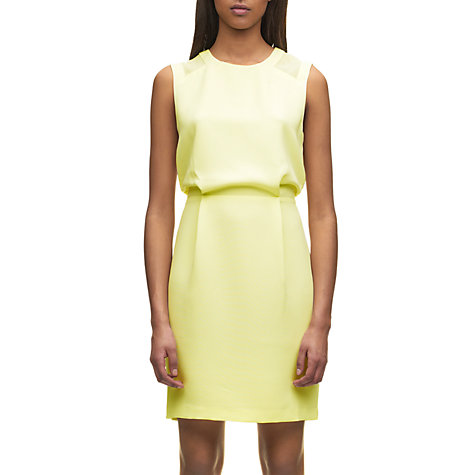 Buy Whistles Alison Shift Dress, Yellow Online at johnlewis.com