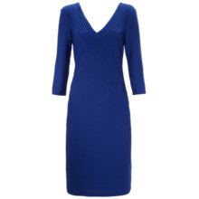 Buy Gina Bacconi Pin Tuck Jersey Dress, Autumn Blue Online at johnlewis.com