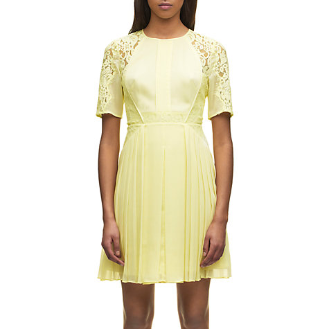 Buy Whistles Linn Lace Detail Dress, Yellow Online at johnlewis.com