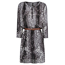 Buy Mango Paint Print Dress, Dark Grey Online at johnlewis.com