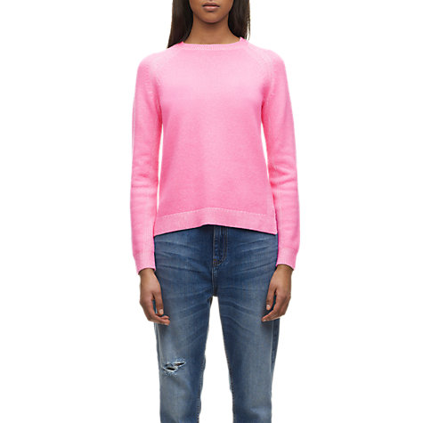 Buy Whistles Mimi Plaited Boxy Jumper, Pink Online at johnlewis.com
