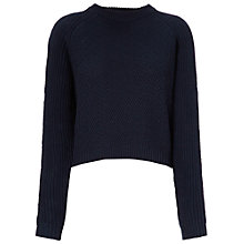 Buy Whistles Ember Moss Stitch Knit Jumper, Navy Online at johnlewis.com