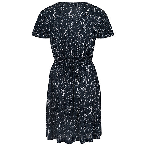 Buy French Connection Marble Pool V-Neck Dress, Black Online at johnlewis.com