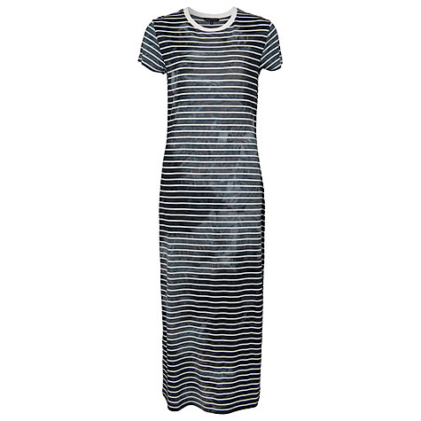 Buy French Connection Amelia Stripe Maxi Dress, Black/White Online at johnlewis.com