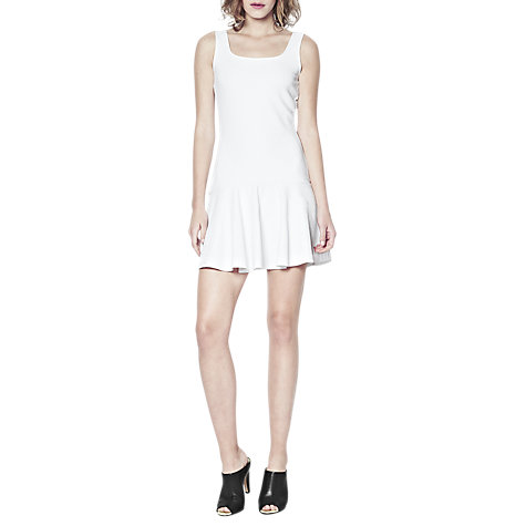 Buy French Connection Natalia Ottoman Dress, White Online at johnlewis.com