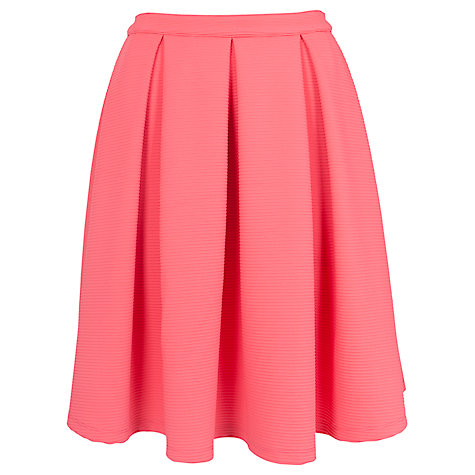 Buy French Connection Natalia Ottoman Skirt, Party Pink Online at johnlewis.com