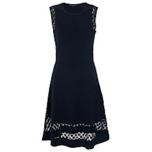Buy French Connection Clover Lace Dress, Utility Blue Online at johnlewis.com