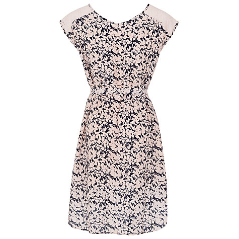 Buy French Connection Marble Pool Tie Waist Dress, Blush Online at johnlewis.com