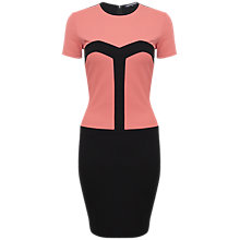 Buy French Connection Natalia Colourblock Dress, Black/Pink Online at johnlewis.com
