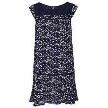 Buy French Connection Marble Pool Capped Sleeve Dress, Black Online at johnlewis.com