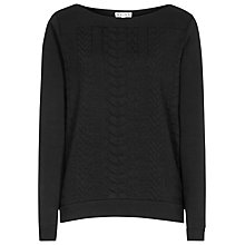 Buy Reiss Riley Quilted Sweatshirt, Black Online at johnlewis.com