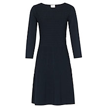 Buy Reiss Jambo Flared Knitted Dress, Blue Online at johnlewis.com